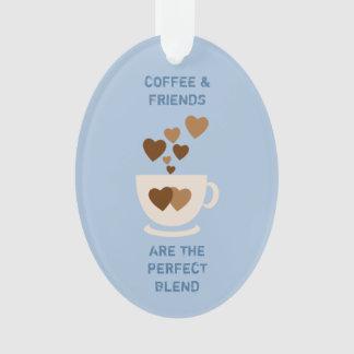Café et amis bleus