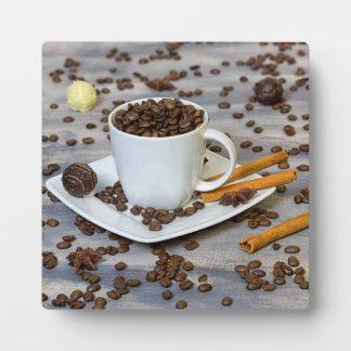 Café et épices plaque photo