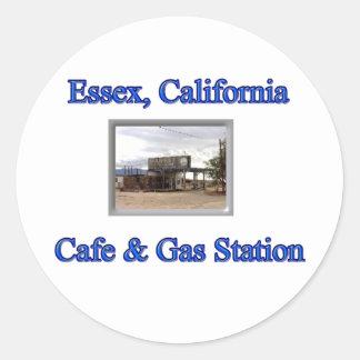 Café et station service adhésifs ronds