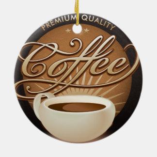 Café et tasse de café de la meilleure qualité ornement rond en céramique