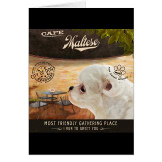 Café maltais carte de vœux