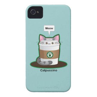 Café mignon de chat coque iPhone 4 Case-Mate