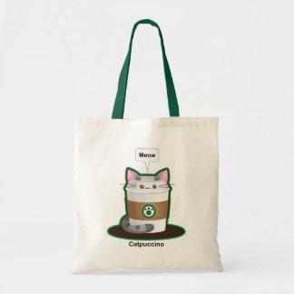Café mignon de chat sacs