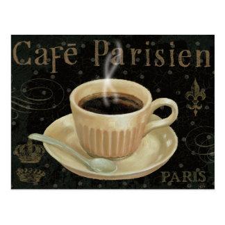 Café Parisien Carte Postale