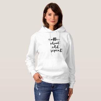Café. pousse. éditez. répétition - le sweatshirt