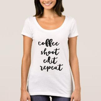 Café. pousse. éditez. répétition - le T-shirt des