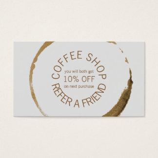 Café-restaurant - référez-vous un ami cartes de visite