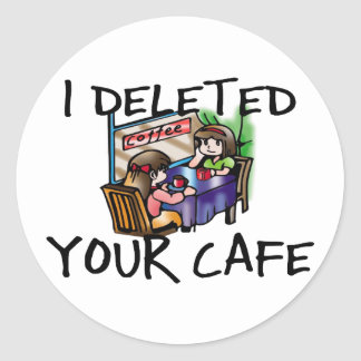 Café supprimé sticker rond