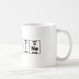 Caféine de Tableau périodique Mug