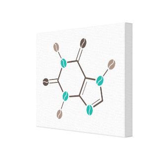 caféine moléculaire de grains de café toiles tendues