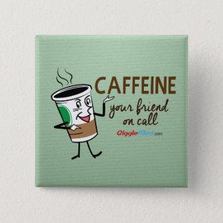 Caféine, votre ami à l'appel badge