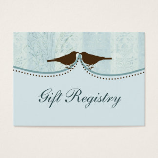 cage à oiseaux bleue, cartes de liste de cadeaux
