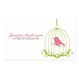 Cage à oiseaux mignonne carte de visite standard
