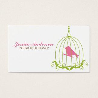 Cage à oiseaux mignonne cartes de visite