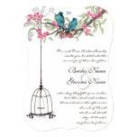 Cage à oiseaux romantique de rose d'inséparable de bristols