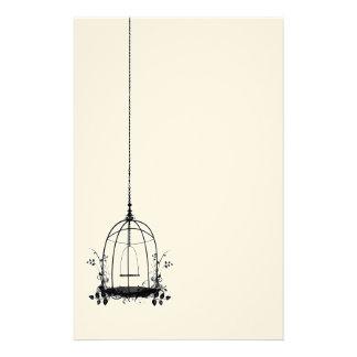 Cage à oiseaux vintage rustique papeterie