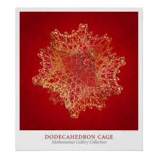 Cage de Dodecahedron Posters