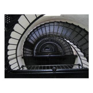Cage d'escalier de phare d'île de Bodie Carte Postale