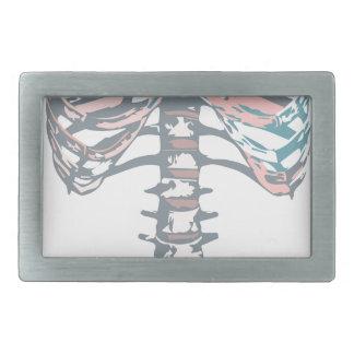 Cage thoracique colorée boucles de ceinture rectangulaires