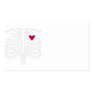 Cage thoracique et coeur cartes de visite personnelles