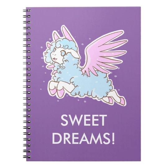 Cahier Mouton des rêves kawaii