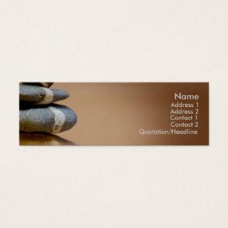 Cailloux équilibrés mini carte de visite