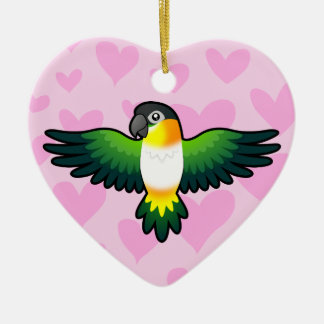 Caïque/perruche/Pionus/amour de perroquet Ornement Cœur En Céramique