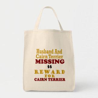 Cairn Terrier et récompense absente de mari pour Sac En Toile