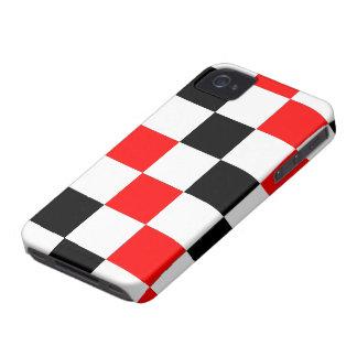 Caisse 4 et 4S noire et blanche rouge fraîche d'iP Coque iPhone 4