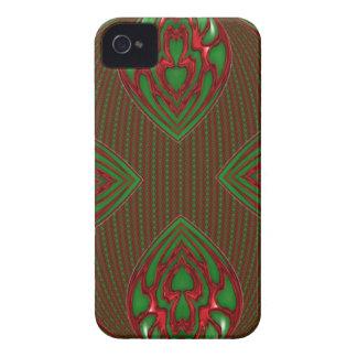 caisse abstraite de mûre de rouge et de vert coques Case-Mate iPhone 4