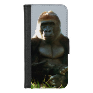 Caisse animale de portefeuille de singe frais et