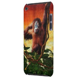 Caisse animale d'iPod d'art de faune d'orang-outan