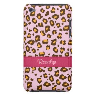 Caisse animale nommée d'iPod de brun de rose d'emp