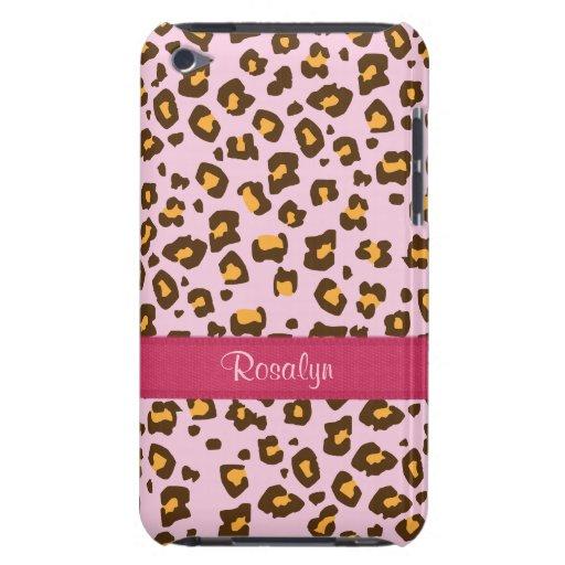 Caisse animale nommée d'iPod de brun de rose d'emp Coques iPod Touch