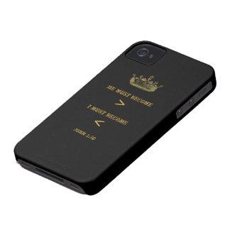 Caisse audacieuse de Blackberry de 3h30 de John (a Coque iPhone 4