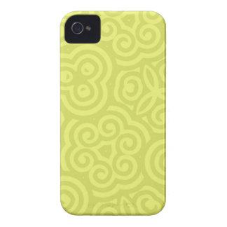 Caisse audacieuse de mûre abstraite Chartreuse de Étuis iPhone 4
