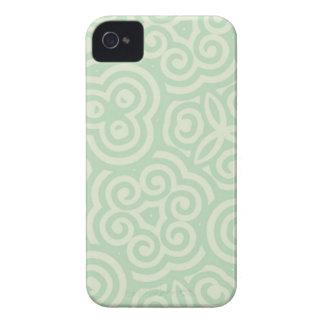 Caisse audacieuse de mûre abstraite cyan de motif coque Case-Mate iPhone 4
