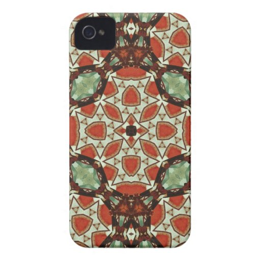 Caisse audacieuse de mûre abstraite de motif coque iPhone 4