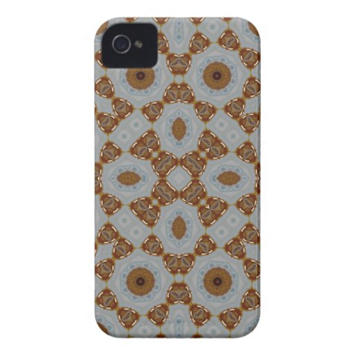 Caisse audacieuse de mûre abstraite de motif coque iPhone 4 Case-Mate