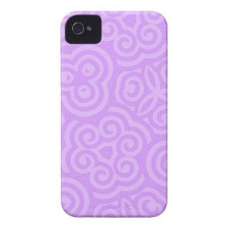 Caisse audacieuse de mûre abstraite de motif coques iPhone 4 Case-Mate