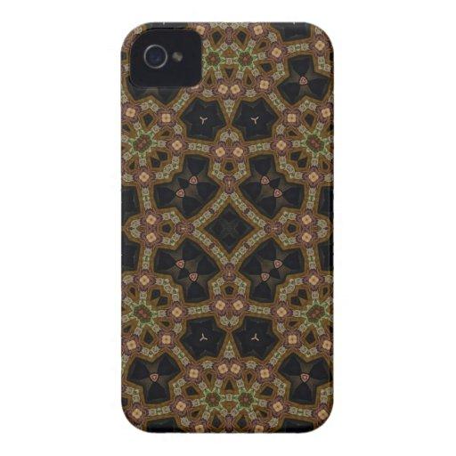 Caisse audacieuse de mûre abstraite de motif coques Case-Mate iPhone 4