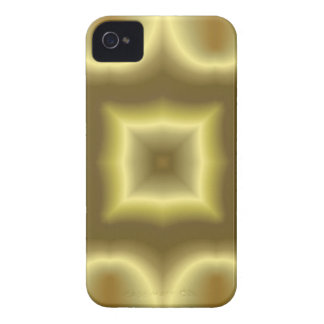 Caisse audacieuse de mûre abstraite jaune de motif coques iPhone 4