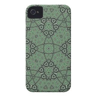 Caisse audacieuse de mûre abstraite verte de motif coques iPhone 4