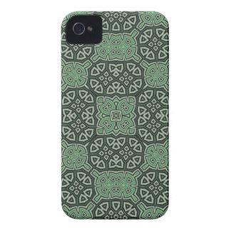 Caisse audacieuse de mûre abstraite verte de motif