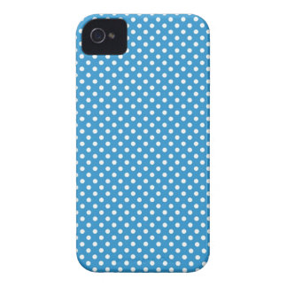Caisse audacieuse fine bleue de Blackberry de poin Coques iPhone 4