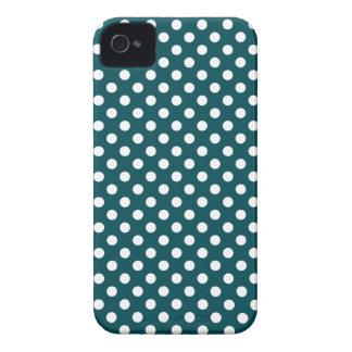 Caisse audacieuse vert-foncé de Blackberry de poin Coques iPhone 4 Case-Mate