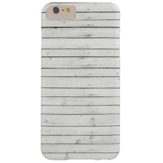 Caisse blanche de téléphone de Shiplap Coque Barely There iPhone 6 Plus