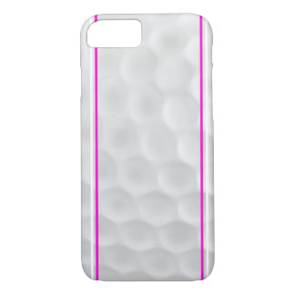 Caisse blanche rose de l'iPhone 7 de boule de golf Coque iPhone 7