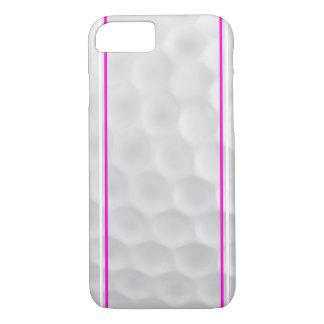 Caisse blanche rose de l'iPhone 7 de boule de golf Coque iPhone 7