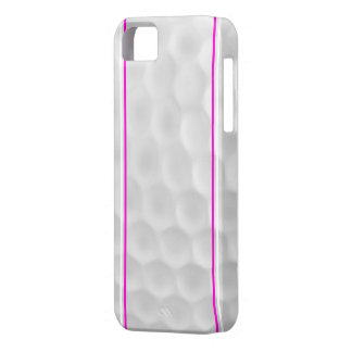 Caisse blanche rose d'Iphone 5 de boule de golf iPhone 5 Case